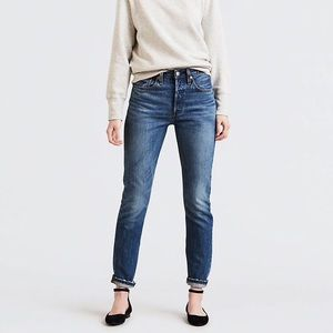 NEW! Levi's 501 Skinny Jeans 29 8 High Waisted